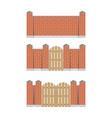 stone bricks fence vector image vector image