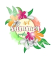 summer party poster with vintage floral bouquet vector image