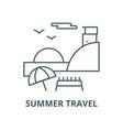 sunday on beachsummer travel line icon vector image