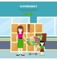 Supermarket Web Banner in Flat Design vector image vector image