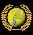 Tennis and golden wreath vector | Price: 1 Credit (USD $1)
