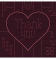 Thank You Techno Line Art Bakcground vector image vector image