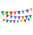 triangular bunting decoration vector image vector image