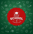 typographical on green chalkboard vector image vector image
