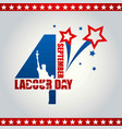usa labor day poster design vector image vector image