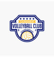volleyball club badge logo-7 vector image vector image