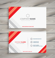 white red business card template vector image vector image