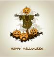 Halloween background with jack o lantern vector image