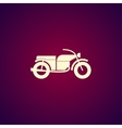 motorcycle icon Flat design style vector image