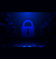 abstract internet security and technology concept vector image vector image