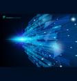 abstract molecules blue virtual technology vector image