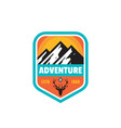 adventure outdoors concept badges mountain vector image vector image
