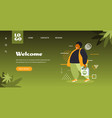 african american man holding shopping bag with cbd vector image vector image