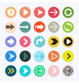 arrow icons color symbol collection vector image vector image