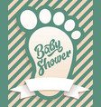baby shower invitation greeting card vector image vector image