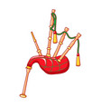 bagpipes icon cartoon style vector image