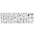 birds hand drawn doodle set vector image vector image
