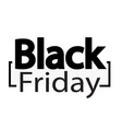 black friday sale design vector image vector image