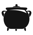 cauldron icon simple style vector image