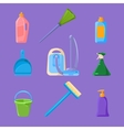 Cleaning and Housework Icons Set vector image