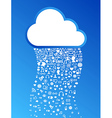 Cloud computing icon background vector image vector image