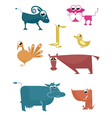 Comic farm animal vector image vector image