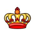 Crown retro tattoo symbol Cartoon old school vector image vector image