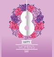 eight with roses to womens day celebration vector image vector image