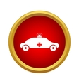 Emergency ambulance icon simple style vector image vector image