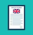 english language icon logo for course english vector image vector image