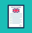 english language icon logo for course vector image vector image