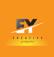 ey e y letter modern logo design with yellow vector image vector image