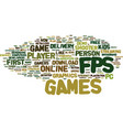 Fps first person shooter games text background