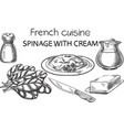french cusine vector image vector image