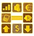 gold finance symbols set isolated vector image vector image