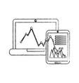 graph chart icon image vector image