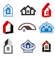 Growth trend of real estate industry - simple vector image vector image
