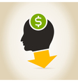 Head an arrow dollar vector image