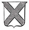 heraldry saltire have x on shield vintage vector image vector image