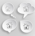 Home inspiration White flat buttons on gray vector image vector image