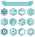 icon set car accessories