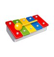 icon xylophone vector image