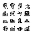 investment icon set vector image