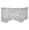 lace is a fabric of fine threads vintage engraving vector image vector image