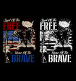 land free home brave - american vector image vector image