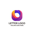 letter o design concept template vector image vector image