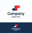 m company logo vector image vector image