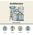 modern color thin line concept architecture and vector image
