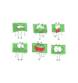 money bills characters with funny faces cute vector image vector image