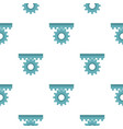 one gear pattern seamless vector image vector image
